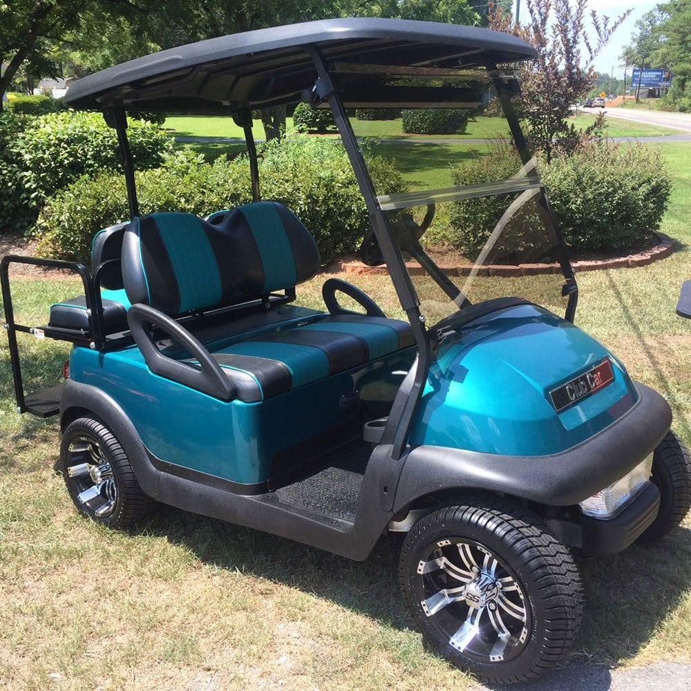 Teal Club Car Precedent on non lifted custom carts
