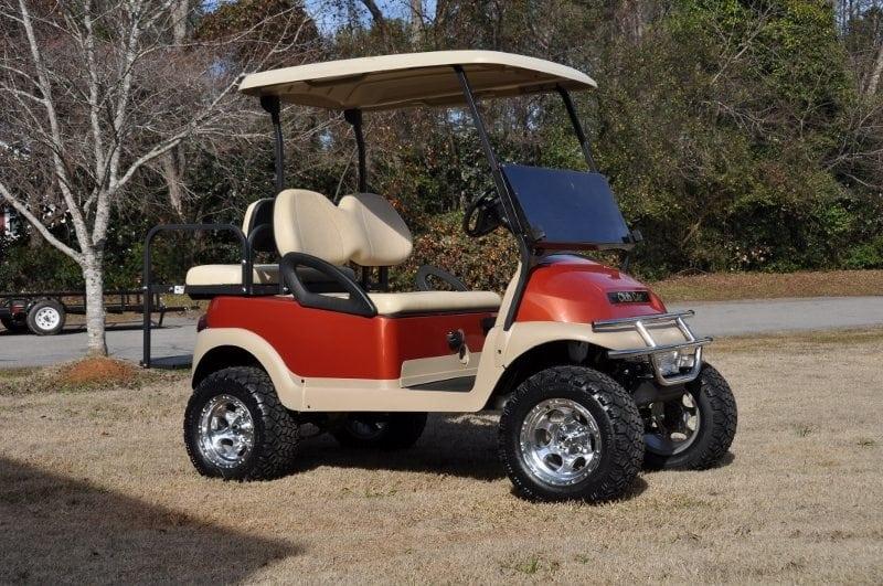 American Made Tires >> Burnt Orange Lifted Club Car Precedent - Custom Golf Carts Columbia | Sales, Services & Parts