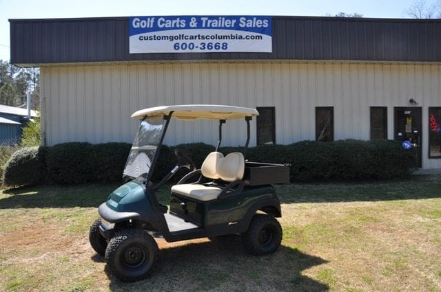 Build Your Own Golf Cart Kit >> Green Lifted Club Car Precedent with Utility Bed - Custom Golf Carts Columbia | Sales, Services ...