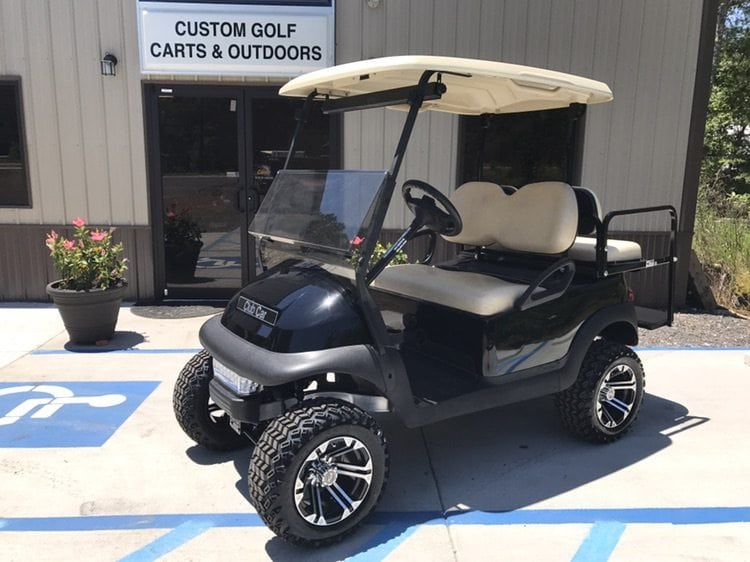 Black Club Car Precedent Lifted - Custom Golf Carts Columbia | Sales on beach buggy cart, grey fifth wheel, car cart,