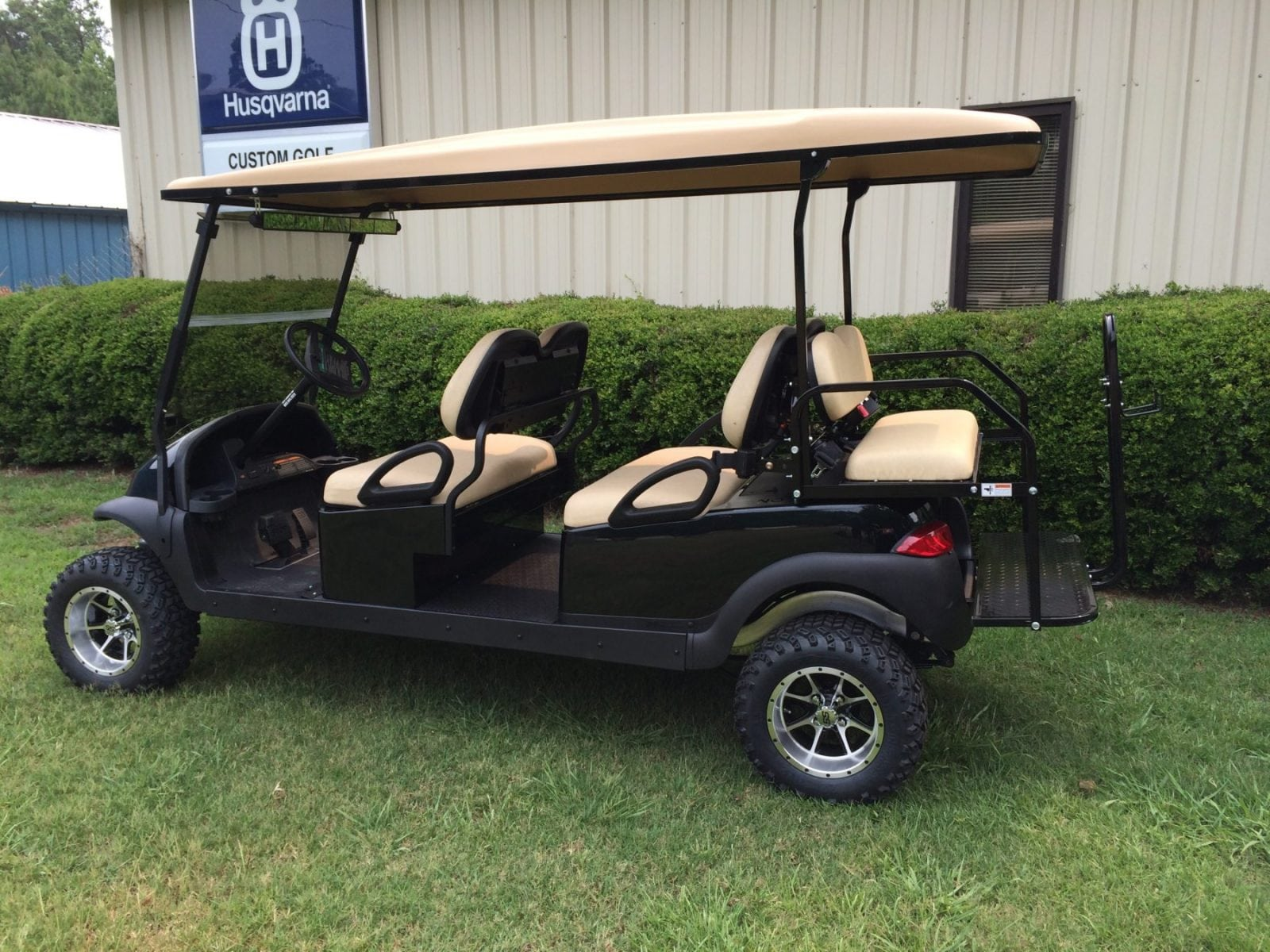 Build Your Own Golf Cart Kit >> Black Six Passenger Lifted Club Car Precedent - Custom Golf Carts Columbia | Sales, Services & Parts