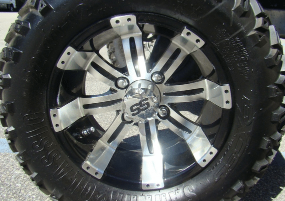 12 Inch Ss Wheel And 22 Inch Tire Packages Custom Golf Carts