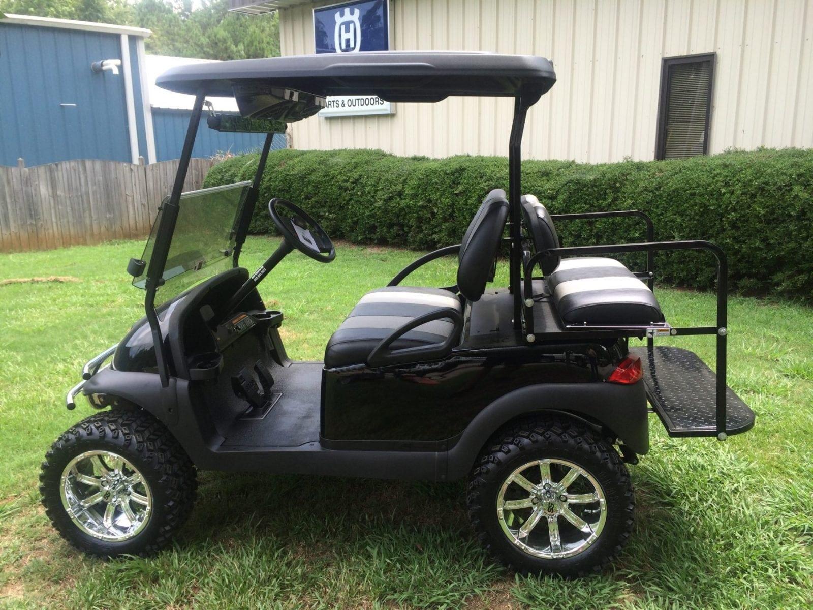 Black club car precedent loaded custom golf carts for Auto motor club comparisons