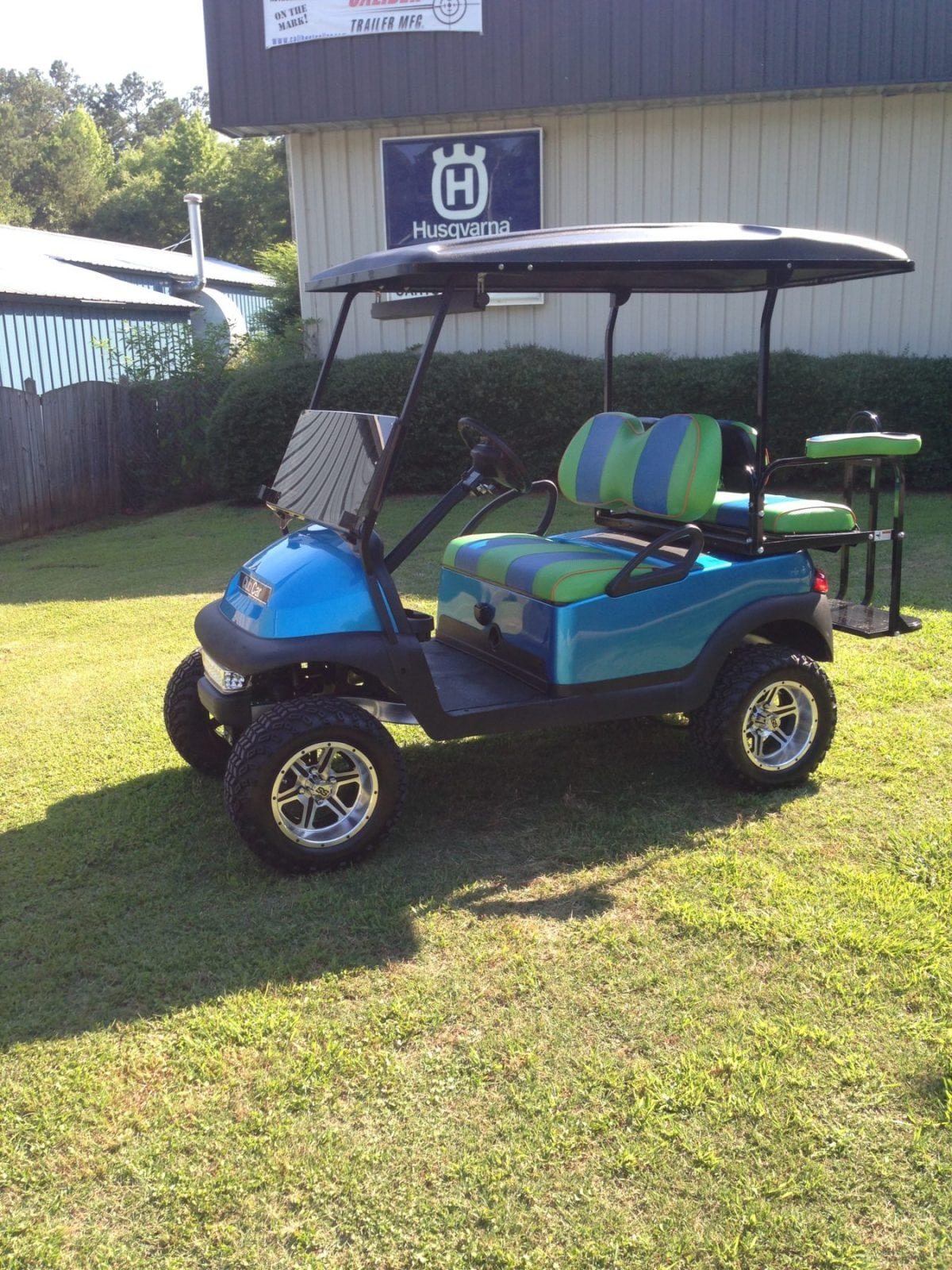 Viper Blue Club Car Precedent Custom Golf Carts Columbia Sales