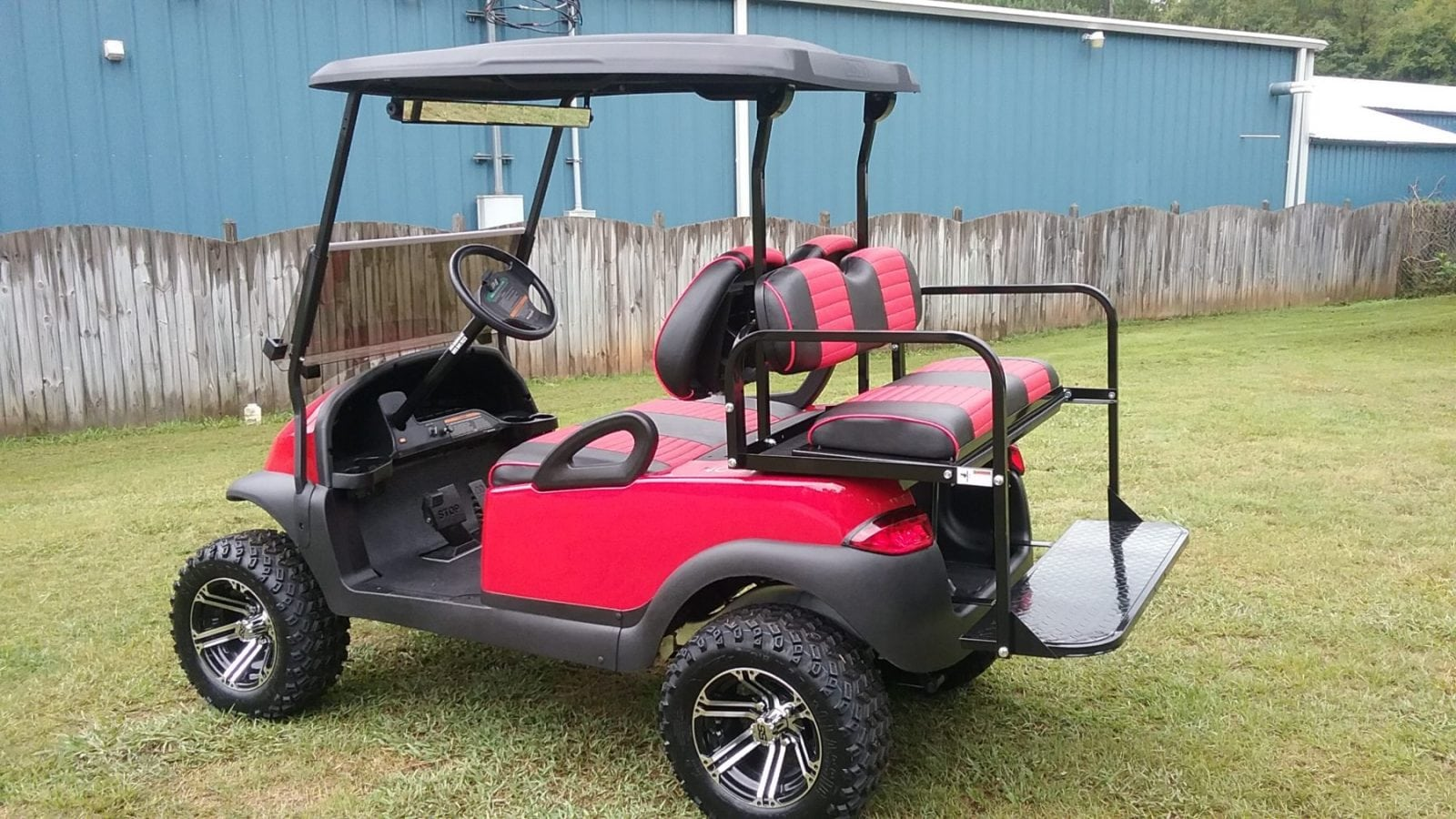 Red Club Car Precedent With Red Black Seats Custom Golf
