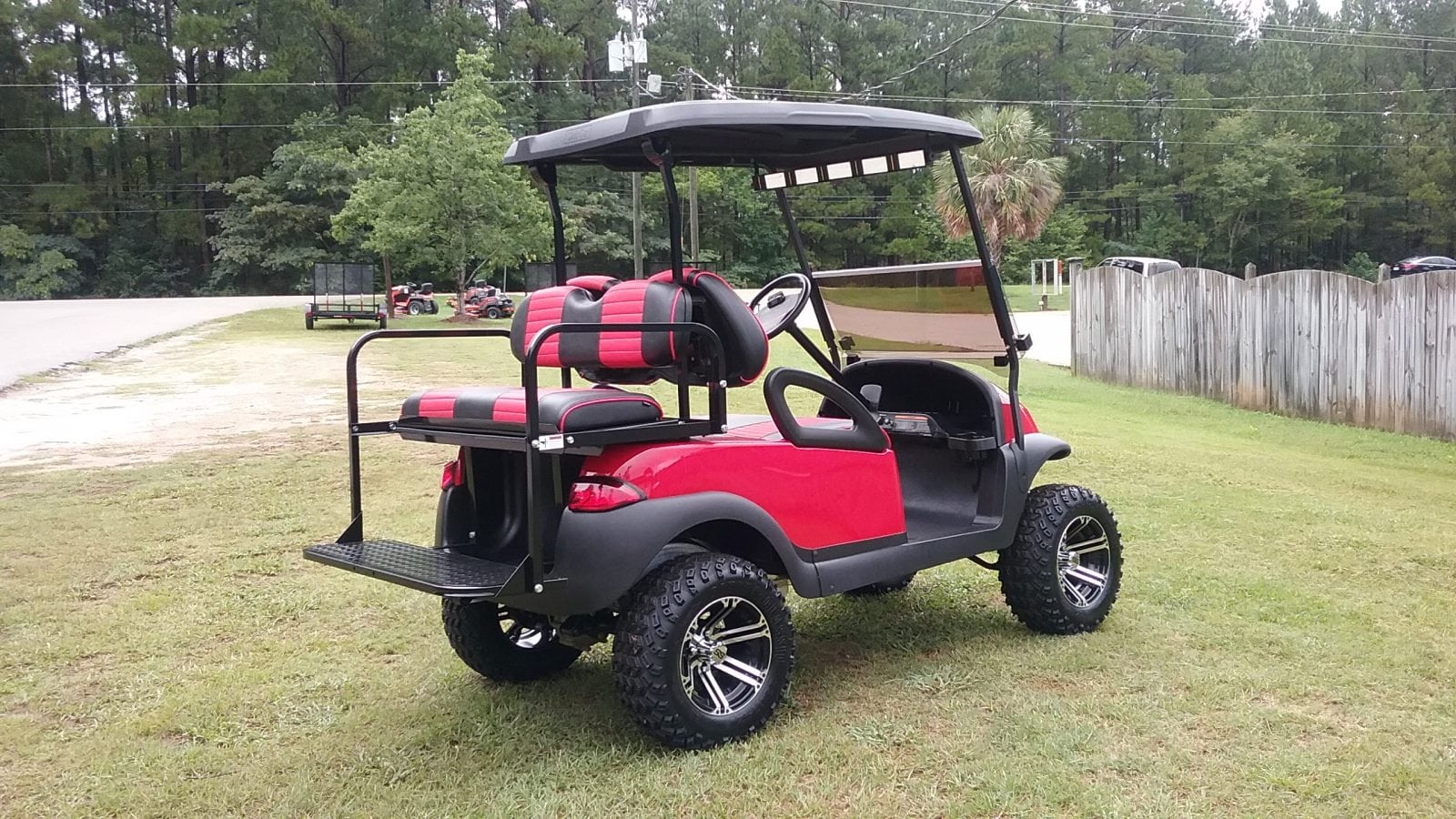 custom golf carts columbia sales services parts red club car precedent with red black. Black Bedroom Furniture Sets. Home Design Ideas