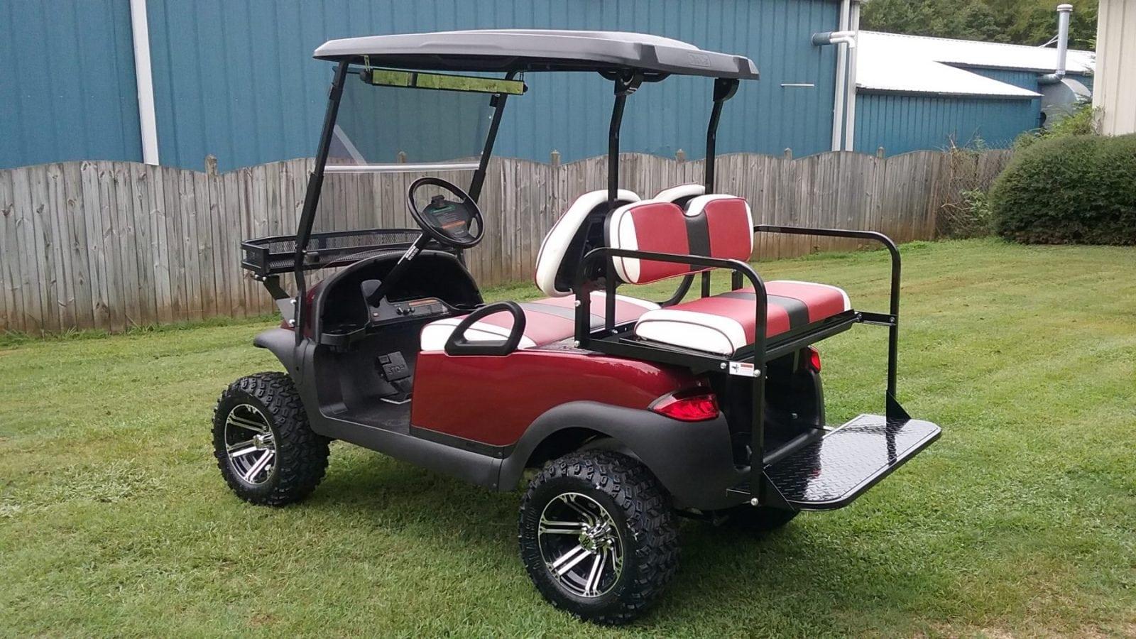 Garnet Club Car Precedent - Custom Golf Carts Columbia   Sales, Services & Parts