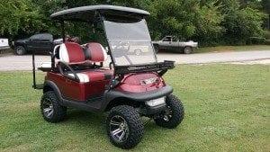 collegiate custom golf cart