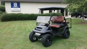 custom golf carts columbia sales services parts club car precedent saddle brown seats. Black Bedroom Furniture Sets. Home Design Ideas