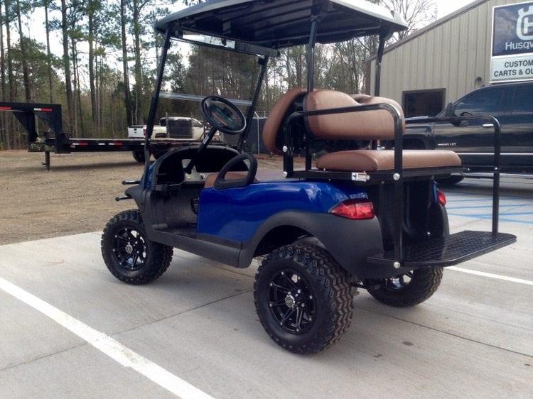 Blue Club Car Precedent With Saddle Brown Seats Custom