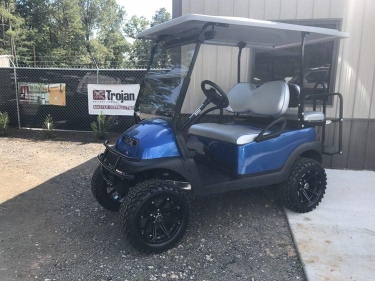 custom golf carts columbia sales services parts blue metallic club car precedent custom. Black Bedroom Furniture Sets. Home Design Ideas